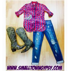 #ootd to get you through your Tuesday ❤   All items available on online at www.smalltowngypsy.com
