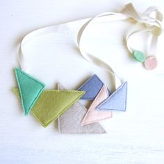 Kid Friendly - Triangle Party Necklace / Homako
