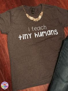 Early childhood teacher t-shirt! Perfect for infant toddler preschool pre-k - Teacher Shirts - Ideas of Teacher Shirts - Early childhood teacher t-shirt! Perfect for infant toddler preschool pre-k and kindergarten teachers. Teaching Shirts, Teaching Outfits, Preschool Teacher Shirts, Toddler Teacher, Toddler Preschool, Kindergarten Teachers, Kindergarten Shirts, Teachers Aide, Teacher Style