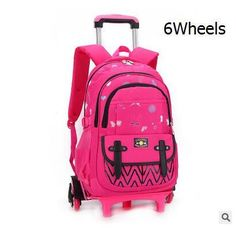 kids Rolling Backpack for School Kids Trolley School Bag for Girl Trolley Wheeled  Backpack Travel trolley luggage bags On wheels 5035809ab0f9f
