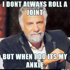 Running injuries. Lol!