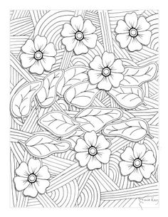 57 Best Free Colouring Pages - Flowers/Gardens images | Coloring ...