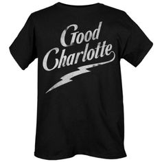 Good Charlotte Bolt T-Shirt | Hot Topic (17 AUD) ❤ liked on Polyvore featuring tops, t-shirts, shirts, t shirt, cotton logo t shirts, cotton shirts, logo shirts and cotton tees