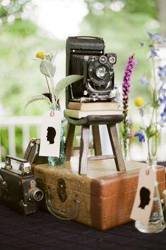 Nashville Garden Weddings Venue | Vintage Camera Decor - Photo: JHenderson Studios