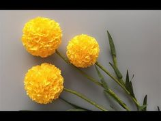 ABC TV | How To Make Billy Buttons Paper Flower From Crepe Paper #1 - Craft Tutorial - YouTube
