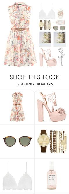 """""""Untitled #566"""" by chantellehofland ❤ liked on Polyvore featuring Aquazzura, Yves Saint Laurent, Jessica Carlyle, Herbivore and Aéropostale"""
