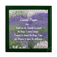 Serenity Prayer Lavender Garden Keepsake Boxes #religion #faith #prayers
