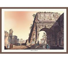 Arch of Titus Giclee on canvas Vintage Artwork, Vintage Posters, Artwork Prints, Painting Prints, Paintings, Arch Of Titus, Nature Scenes, Wonderful Images, Art Reproductions