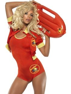 Ladies Men/'s Lifeguard fancy dress Beach Hen Stag Baywatch style costume outfit