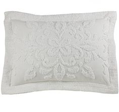 RENAISSANCE HOME FASHION Silvia Chenille Sham Standard White -- You can get additional details at the image link.