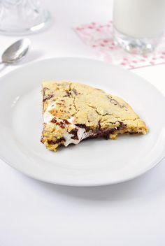 Gâteau cookie au coeur fondant de Marshmallow