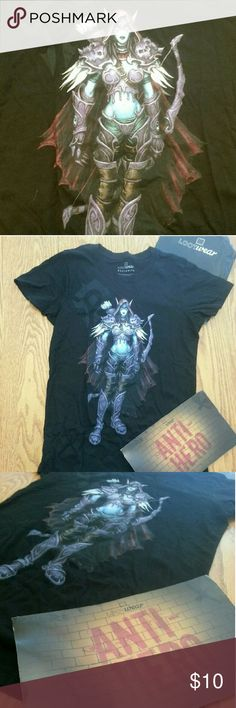 World of Worldcraft (Lootcrate Exclusive Shirt) New and never worn medium exclusive Loot Crate shirt depicting a character from World of Warcraft Loot Crate Tops Tees - Short Sleeve