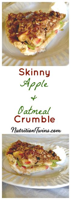 Skinny Apple Pie Crumble | Only 150 Calories | Guilt-free Comfort Food | Easy to make | For RECIPES, fitness & nutrition tips please SIGN UP for our FREE NEWSLETTER www.NutritionTwins.com