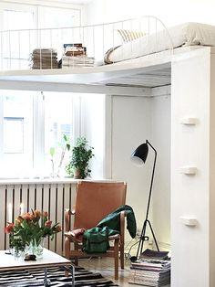 hochbetten erwachsene design weiß orange | hochbett | pinterest, Hause ideen