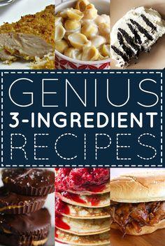 33 Genius Three-Ingredient Recipes - Imgur