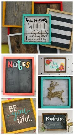 to make wood frames! Step by Step! how to make wood frames! easy diy with step by step instructions! Lots of fun decorations ideas!how to make wood frames! easy diy with step by step instructions! Lots of fun decorations ideas! Wood Projects For Beginners, Diy Wood Projects, Diy Crafts With Wood, Crafts For The Home, Diy Projects To Sell, Rustic Crafts, Easy Projects, Diy Crafts To Sell, Do It Yourself Furniture