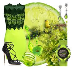 """""""Black and Lime"""" by bonnieemme ❤ liked on Polyvore featuring Pilot, Hattie Carnegie, Orrefors, Dakota and Dolce&Gabbana"""
