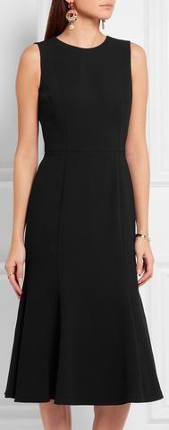 Black Bare-Back Midi Dress