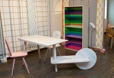 Libreria Color Fall. Stampa multicolor e struttura in legno di frassino, scoprila in vendoarredo.com