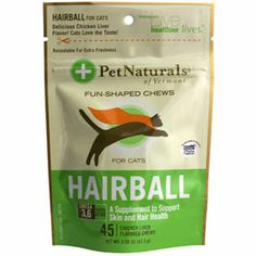 Pet Naturals Of Vermont Hairball Relief Soft Chews- need to try this for the white furball I call Belle