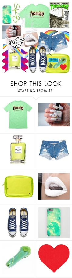 """""""Do you THRASH, Bruuh?"""" by tropical-vegas-finest ❤ liked on Polyvore featuring Chanel, rag & bone/JEAN, Stephanie Johnson and Converse"""