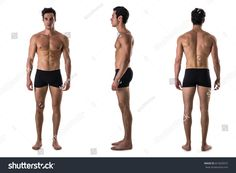 Find Three Views Muscular Shirtless Male Bodybuilder stock images in HD and millions of other royalty-free stock photos, illustrations and vectors in the Shutterstock collection. Human Poses Reference, Pose Reference Photo, Body Reference, Anatomy Reference, Male Model Body, Male Body, Body Anatomy, Human Anatomy, Body Study