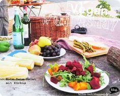 Heute mal Aushäusig: Hotelfrühstück mit frischem Obst, Mittags vegetarische Samosas und ein abendliches Barbecue mit RoteBete-Salat