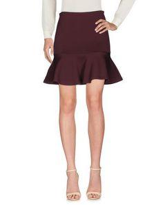MCQ BY ALEXANDER MCQUEEN Knee length skirt. #mcqbyalexandermcqueen #cloth #dress #top #skirt #pant #coat #jacket #jecket #beachwear #