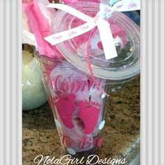 Mommy To Be Pregnacy Tumbler / Expectant Moms / by NolaGirlDesign, $16.50