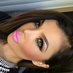 #makeup #lipstick #pink #eyeshadow #pastel #bright #blush #hair #eyes #pretty