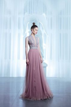 Nicolas Jebran-Spring-Summer 2015 Collection...Gorgeous and simple. Imagine this in bridal tones & embellishments that fit your style.Get that designer's look by having this custom-made to fit your style