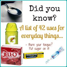 #home #tips and uses for everyday things... who knew? 42 tips like: - Pam cooking spray will dry finger nail polish.