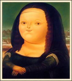 Fernardo Botero - (nais)kuvat, missä vaan muodossa  (alkuperäiset taulut eivät ehkä iiiihan tähän kympin budjettiin sovi :D )