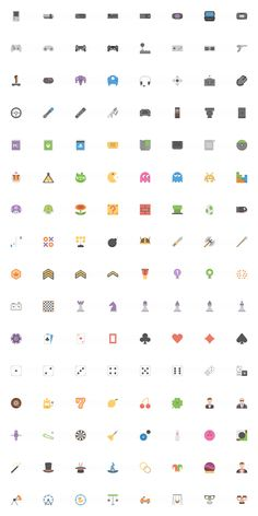 2000 Flat Icon Pack - Squid Ink