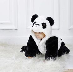 free shipping new cute animal panda one piece long sleeve. Black Bedroom Furniture Sets. Home Design Ideas