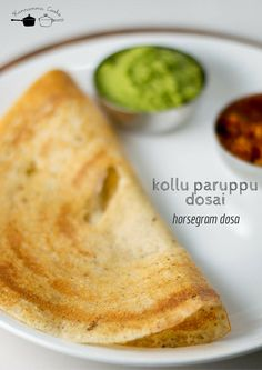 Dosa made with cooked and ground horsegram and spices. Healthy and filling dosa recipe. With step by step pictures. Healthy Indian Recipes, Veggie Recipes, Cooking Recipes, Ethnic Recipes, Breakfast Pancakes, Breakfast Recipes, Indian Dosa Recipe, Coconut Chutney, Chutney Recipes