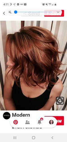 Reddish Brown Hair Color, Hair Color Auburn, Auburn Hair, Brown Hair Colors, Red Hair, New Look, Long Hair Styles, Beauty, Top