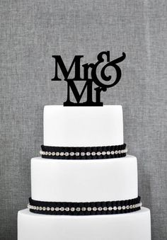 Mr. & Mr. Cake Topper from ThatGaySite.com. Gay wedding, gay wedding cake topper, two grooms