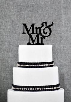 Mr. & Mr. Cake Topper from ThatGaySite.com. Gay wedding, gay wedding cake topper, two grooms