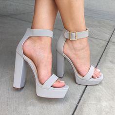 Square Away Chunky Faux Nubuck Heels