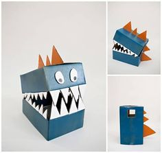 Cardboard boxes can quickly become this amazing DIY dinosaur costume. Dinosaur Crafts Kids, Make A Dinosaur, Dinosaur Head, Dinosaur Activities, Dinosaur Party, Fun Activities For Kids, Cardboard Costume, Cardboard Crafts, Recycled Costumes