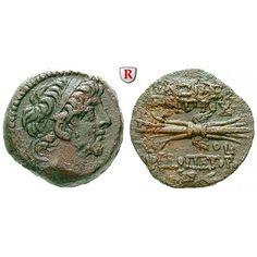 Syrien, Königreich der Seleukiden, Antiochos IX., Bronze Jahr 199 = 114-113 v.Chr., f.vz: Antiochos IX. 113-95 v.Chr. Bronze 19 mm… #coins