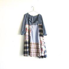 patchwork upcycled Dress / romantic Upcycled clothing / by CreoleSha on Etsy, $95.00