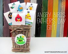 EASY DIY Angry Birds Father Day Gift with Free Printable
