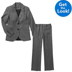 George Women's Plus-Size Career Pant Suit- Black or Grey Heather, in case I need to interview or I get promoted