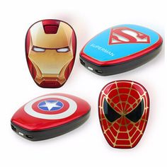 nice Cool Portable Power Bank The Avengers Captain America Charger Mobile Power Supply Universal PowerBank