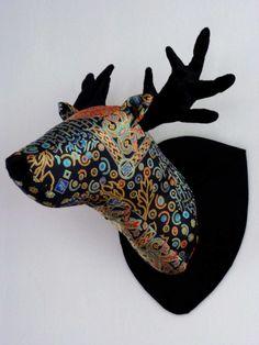 Oriental fabric deer head Deer, Oriental, Fabric, Tejido, Tela, Cloths, Fabrics, Tejidos, Reindeer