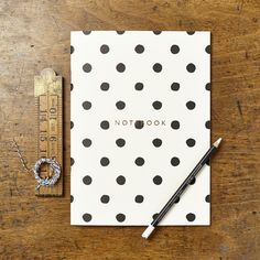 Painted Polka Dot Notebook