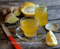 Sciroppo zenzero limone e miele contro tosse e raffreddore: valido rimedio naturale. Ottimo anche per una confortante tisana.Procedimento anche con il Bimby