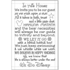 Disney Rules in This House We Do Disney House Rules Family Rules... ($65) ❤ liked on Polyvore featuring home, home decor, wall art, black, home & living, home décor, wall décor, wall hangings, text signs and disney wall art